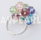 Wholesale colorful crystal ring