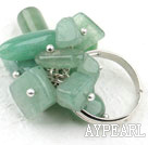 Assorted Aventurine Stone Adjustable Ring