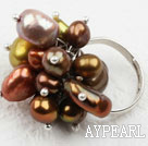 Assorted Freshwater Pearl justerbar ring