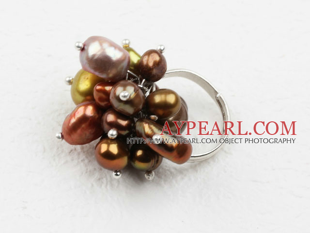 Assorted Freshwater Pearl Adjustable Ring