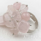 Classic Design Assortert Rose Quartz Justerbar Ring