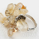 Wholesale Classic Design Assorted Citrine Adjustable Ring