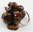 Classic Design Assorted Tiger Eye Adjustable Ring