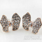 Fashion Style Butterfly Shape Rhinestone Gold Plated Hypoallergenic Studs Earrings