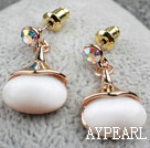 Fashion Style Immitation Cat's Eye Gold Plated Hypoallergenic Studs Earrings