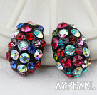Discount Fashion Style Ladybug Shape Multi Color Rhinstone Studs Earrings