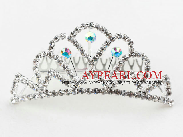 Beautiful Alloy With Rhinestones Wedding Bridal Tiara with Combs