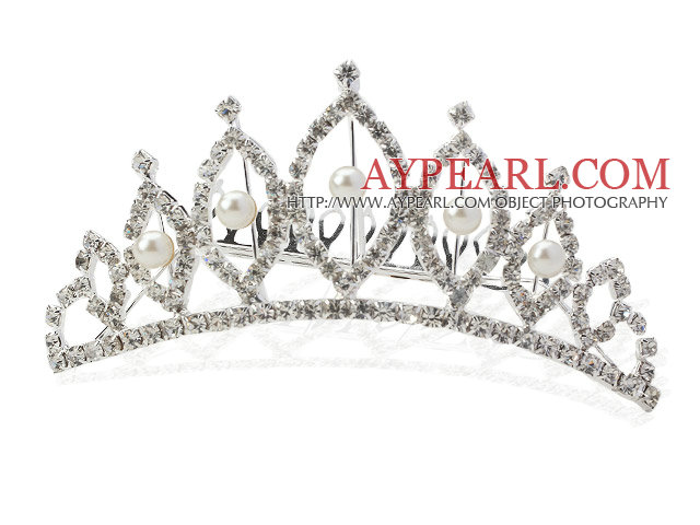 Alloy With Rhinestones Wedding Bridal Tiara with Combs