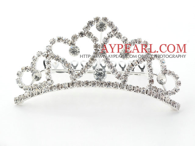 Gorgeous Alloy With Rhinestones Wedding Bridal Tiara with Combs