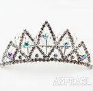 Fashion Alloy With Rhinestones Wedding Bridal Tiara with Combs