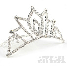 Drop Shape Alloy With Rhinestones Wedding Bridal Tiara with Combs