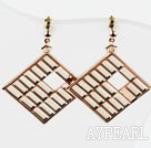 Wholesale Rhombus Shape Gold Plated Hypoallergenic Studs Earrings