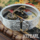 Big Style Sterling hopea rannerengas (With Pattern of Plum Blossom, bambu ja krysanteemi)