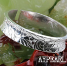 Big Style Sterling hopea rannerengas (With Pattern Erilaisten Flower)