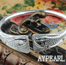 Fashion Style Sterling Silver(99.9% Silver) Bangle (With the Pattern of Double Fish )