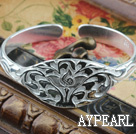 Wholesale Fashion Style Sterling Silver(99.9% Silver) Bangle (With the Pattern of Lotus )