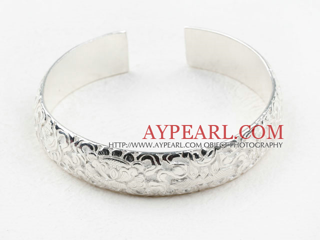 Klassisk design Sterling Silver Bangle (med olika mönster)