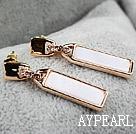 Fashion Style Zipper Shape Rhinestone Gold Plated Hypoallergenic Studs Earrings