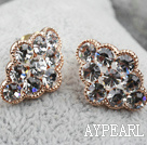 Discount Fashion Style Cloud Shape Rhinestone Gold Plated Hypoallergenic Studs Earrings