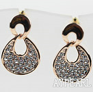 Fashion Style Teardrop Shape Rhinestone Gold Plated Hypoallergenic Studs Earrings