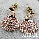Fashion Style Gold Plated Hypoallergenic Rhinestone Studs Earrings