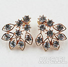 Fashion Style Irregular Shape Rhinestone Gold Plated Hypoallergenic Studs Earrings