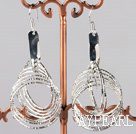 fashion silver plated metal earrings nickle free