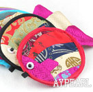 Multi Color Fish Shape Jewelry Bags (10 Pcs Color Random)