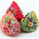 Beautiful Dumpling Shape Multi Color smykker Package (10 stk Color Random)