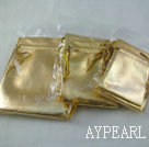 30 pcs yellow color silk jewelry bags