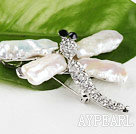 Wholesale exquisite Biwa pearl dragonfly shape brooch