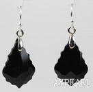 Wholesale Drop Shape Black Color Baroque Austrian Crystal Earrings