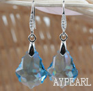 16mm Light Blue Color Baroque Austrian Crystal Earrings