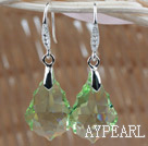 Wholesale 22mm Apple Green Color Baroque Austrian Crystal Earrings