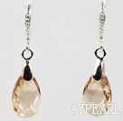 16mm or champagne Teardrop Earrings Couleur forme des cristaux autrichiens