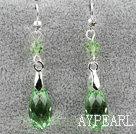 Classic Design Dangle Style Green Faceted Itävallan kristalli pisara korvakorut