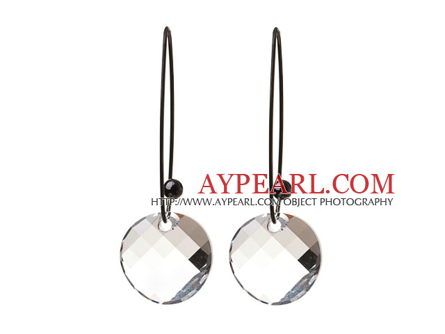 2014 Summer Design Potato Chips Shape Clear White Austrian Crystal Earrings With Long Hook