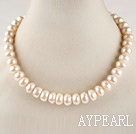 favourite 15.7 inches 12-13mm natural white irregular shape pearl necklace