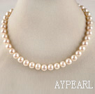 dazzling A grade 16.5inches 10-11mm white round pearl necklace