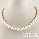 admirably 16.5  inches 11-12mm natural white color  pearl necklace
