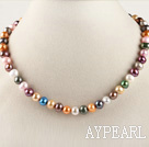 exquisite  15.7 inches 7-8mm dyed fresh water multi color pearl necklace
