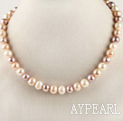 favourite 16.1 inches 9-10mm natural colors round pearl necklace