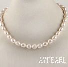 favourite 15.7 inches 8-9mm natural white baroque pearl necklace