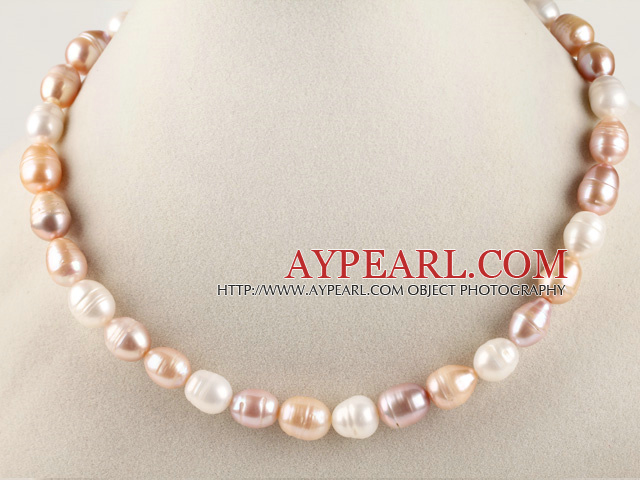 favourite 15.7 inches 11-12mm natural colors baroque pearl necklace