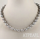 favourite 15.7 inches 9-10mm gray color baroque pearl necklace