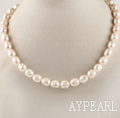 favourite 15.7 inches 11-12mm natural white baroque pearl necklace