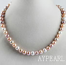 favourite 15.7  inches 9-10mm natural colors round pearl necklace
