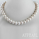 Wholesale exquisite  15.7 inches 11-13mm natural white color pearl necklace