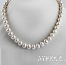 exquisite  15.7 inches 9-10mm natural white color  pearl necklace