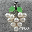 Wholesale 5-6mm White Freshwater Pearl Leaf Shape Pendant ( No Chain )